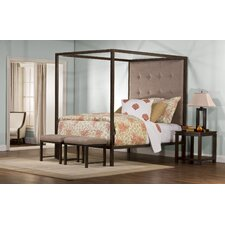 King's Way Upholstered Canopy Bed