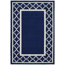Moroccan Frame Indigo/Ivory Area Rug