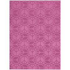 Pink Large Peace Area Rug