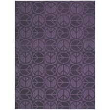 Purple Large Peace Area Rug