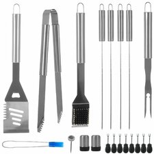 20 Piece Stainless Steel BBQ Grill Set