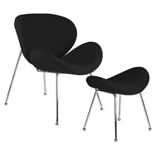 Debaunaire Wool Chair and Ottoman Set