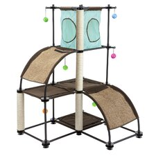 "Steel Claw Kitty City 47"" Cat Tree with Condo"