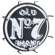 Old No. 7 Neon Sign Wall Decor