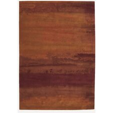 Luster Wash Rust Area Rug