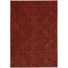 Urban Tikka Red Area Rug