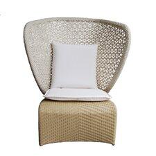 Exotica High Back Chair White Cushion (Set of 4)