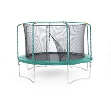 Plus Trampoline in Green with Safety Enclosure