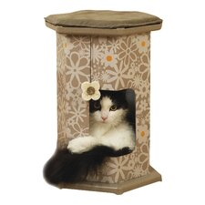 51cm Wolf and Tiger Play Tower and Tunnel Scratching Post