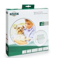 Haustiertür 200 Series für große Katzen und kleine Hunde in Weiß