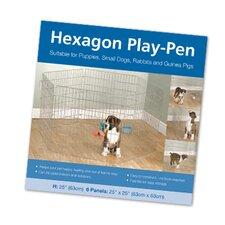 Hundezwinger in hexagonaler Form