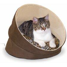 Katzenbett Thermo-Kitty in Schokobraun und Beige