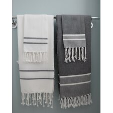 Hudgens Stripe Hand Towel (Set of 2)