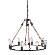 Galena 8 Light Candle Chandelier