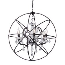 Diamond 6 Light Crystal Chandelier