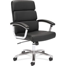 VL103 Executive Mid-Back Leather Conference Chair