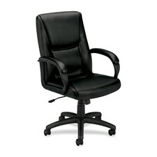 VL161 Leather Executive Mid-Back Chair