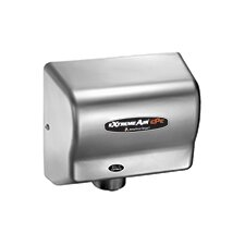 Adjustable High Speed 100 - 240 Volt Hand Dryer in Satin Chrome