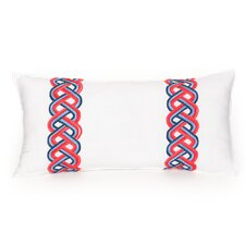 Coastline Ikat Decorative Cotton Lumbar Pillow