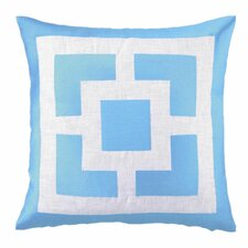 Palm Springs Blocks Linen Throw Pillow