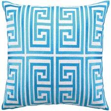 Greek Key Linen Pillow