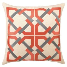 Geometric Tile Linen Throw Pillow