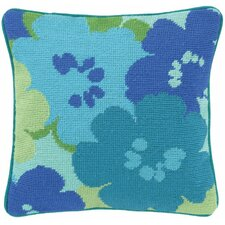 Floral Linen Throw Pillow