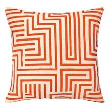 Mira Mesa Embroidered Linen Throw Pillow