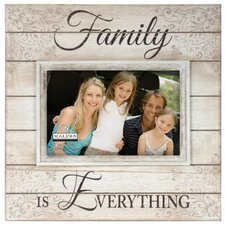 "4"" x 6"" Family Is Everything Sunwashed Wood Picture Frame"