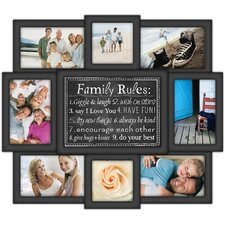 Family Rules 8 Slot 4'' x 6'' Picture Frame