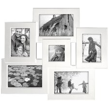 Beveled Collage White Picture Frame