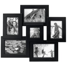 Beveled Collage Black Picture Frame
