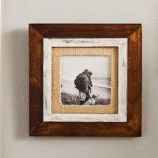 Cedar Burlap Mat Picture Frame