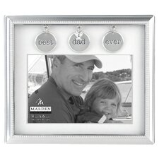 Dad Metal Charms Picture Frame