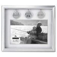Grandpa Metal Charms Picture Frame