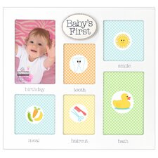 Baby's First's Collage 6-Opeining Picture Frame