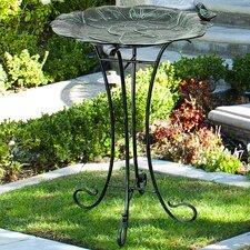 Lily Pad Birdbath with Steel Stand