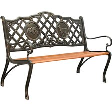 Hunting Cast Iron Park Bench