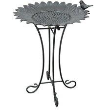 Sunflower Birdbath with Steel Stand