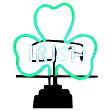 Irish Shamrock Neon Sculpture