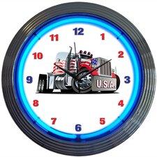 "15"" Big Rig Truck Neon Clock"
