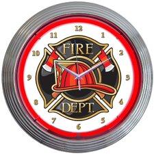"""15"""" Fire Department Neon Clock"""