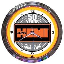 """15"""" Hemi 50Th Anniversary Neon Clock"""
