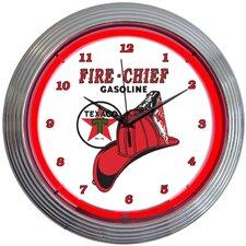 "15"" Texaco Fire Chief Neon Clock"