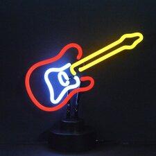 Electric Guitar Neon Sculpture