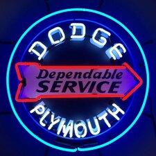 Dodge Dependable Service Neon Sign