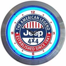 "15"" Jeep The American Legend Neon Clock"