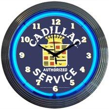 """Cars and Motorcycles 15"""" Cadillac Service Wall Clock"""