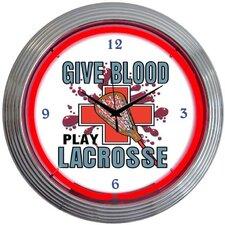 """Sports 15"""" Lacrosse Wall Clock"""