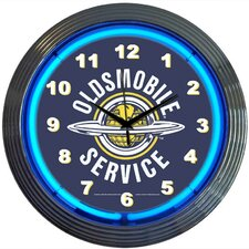 """Cars and Motorcycles 15"""" Oldsmobile Service Wall Clock"""